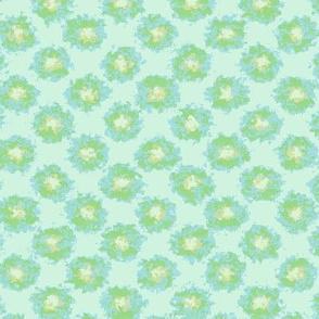 Splatter Flowers in Green