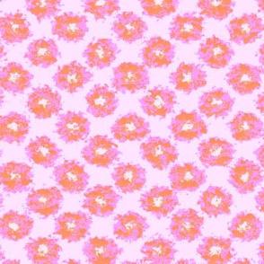Splatter Flowers in Pink