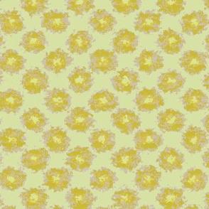 Splatter Flowers in Yellow
