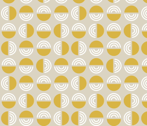 Gold Greige Mod fabric by mrshervi on Spoonflower - custom fabric