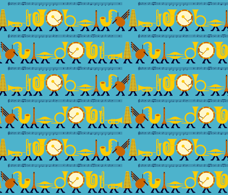 03491783 : self-marching band fabric by sef on Spoonflower - custom fabric