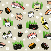 Sushi Characters Pattern