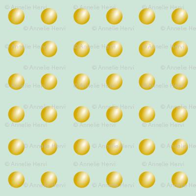 Mint Gold Buttons