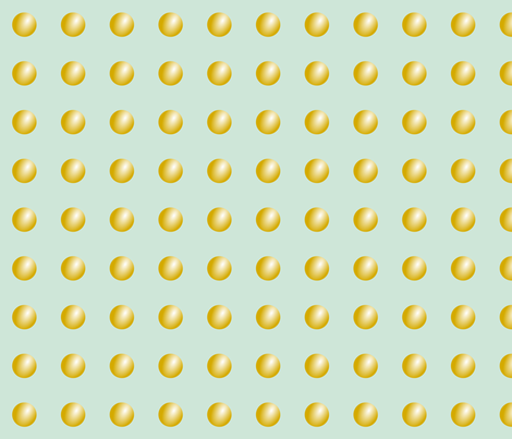 Mint Gold Buttons fabric by mrshervi on Spoonflower - custom fabric