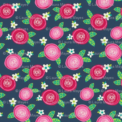Pink Red Floral