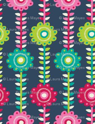Floral Stipes
