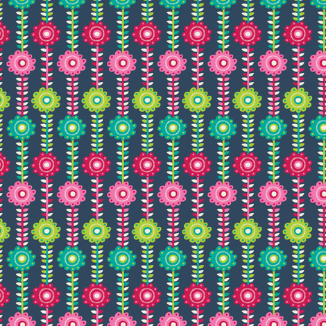 Floral Stipes fabric by laura_mayes on Spoonflower - custom fabric