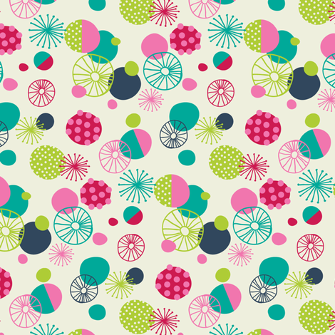 Funky dots fabric by laura_mayes on Spoonflower - custom fabric