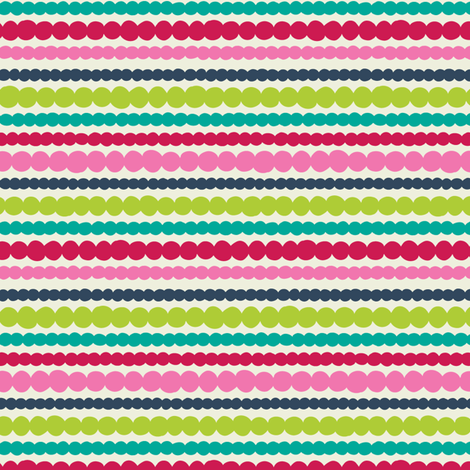 Dots and stripes fabric by laura_mayes on Spoonflower - custom fabric
