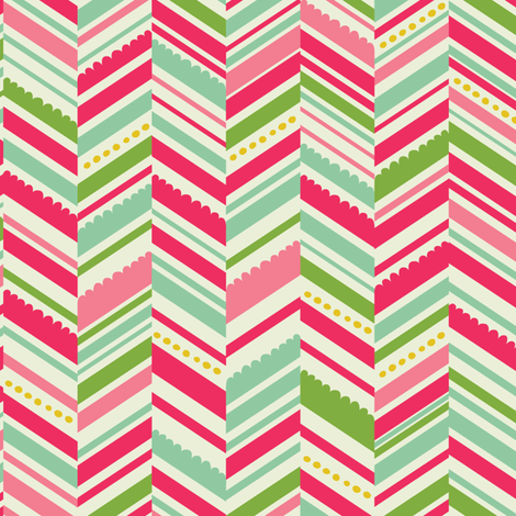 Christmas_Angels_Chevron-01 fabric by laura_mayes on Spoonflower - custom fabric