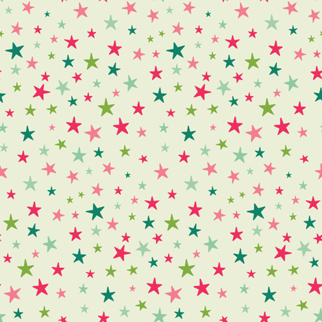 Christmas Stars fabric by laura_mayes on Spoonflower - custom fabric
