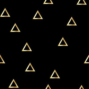 Pop Stripe Co-ordinates Triangles Black and Gold - small scale