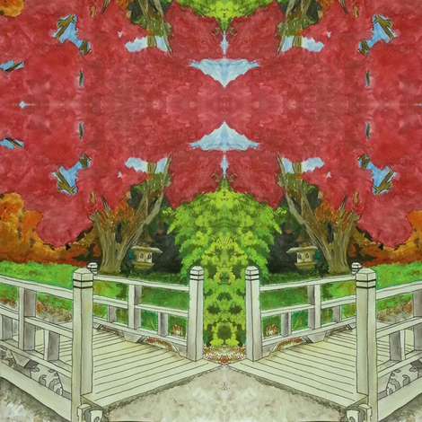Japanese Garden fabric by altrincham on Spoonflower - custom fabric