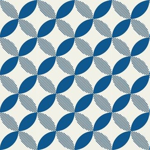 Circle Tessellation: Navy with Stripes