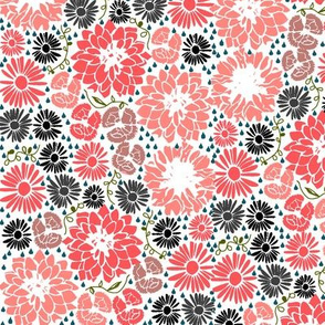 Ditsy flowers (pink)