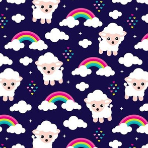 Rainbow dreams and sleepy night sheep counting