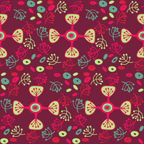 Holly Wreath fabric by asouthernladysdesigns on Spoonflower - custom fabric