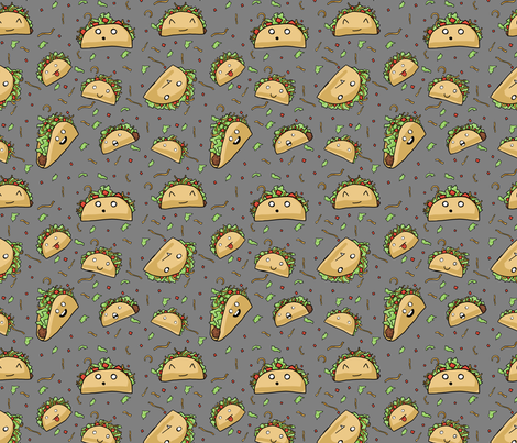 Crazy Tacos fabric by amber_morgan on Spoonflower - custom fabric