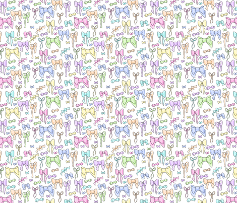 Pastel Bows fabric by amber_morgan on Spoonflower - custom fabric
