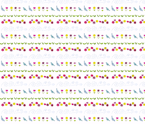 Garden Parade fabric by dreamoutloudart on Spoonflower - custom fabric