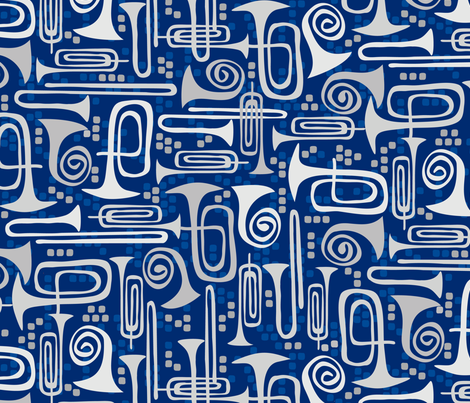 Marching Band Instruments fabric by jill_o_connor on Spoonflower - custom fabric