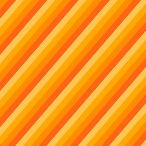Diagonal orange toned stripes.