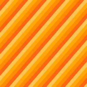 Diagonal orange toned stripes.