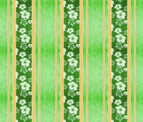 Hawaii, hawaiian, aloha, hibiscus flowers, hawaiian pattern, aloha pattern, flowers fabric by macdonaldcreativestudios on Spoonflower - custom fabric
