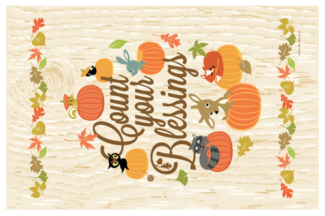 Count Your Blessings Banner Flag fabric by sheri_mcculley on Spoonflower - custom fabric