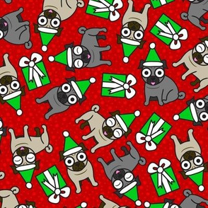Merry Pugs (Red)