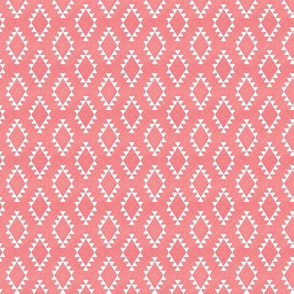 Aztec Crosshatch Pink SMALL scale