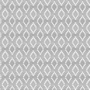 Aztec Crosshatch Gray SMALL scale