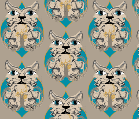 catz fabric by meri_iris on Spoonflower - custom fabric