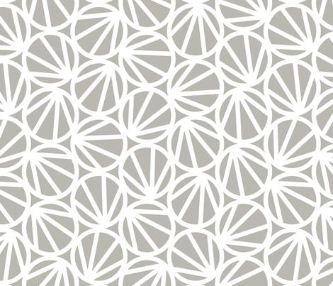 MARI - Grey fabric by hitomikimura on Spoonflower - custom fabric