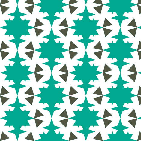 star and triangle turquoise  fabric by miamea on Spoonflower - custom fabric