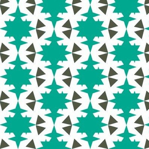 star and triangle turquoise