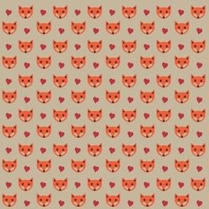 Fox with Hearts