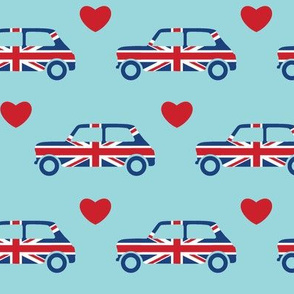 Mini Cooper Hearts - Union Jack Car