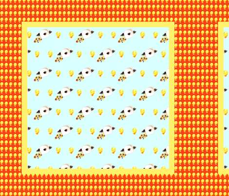 Jerry the Angel Square Scarf fabric by lizyholiday on Spoonflower - custom fabric