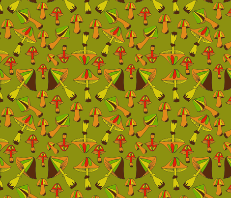 Psychedelic Mushrooms  fabric by manicpop on Spoonflower - custom fabric