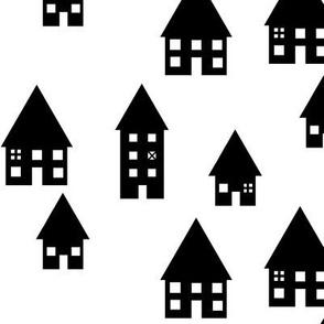 monochrome houses