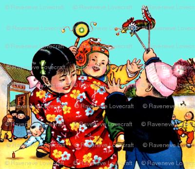 Kids Asian China Chinese Oriental Chinoiserie New Year