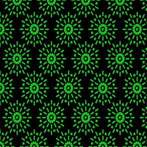 Nerve Endings in Florescent Green
