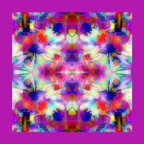 Abstract Flowers purple-pillow