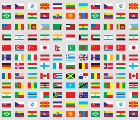 Modern Flags of the World fabric by aftermyart on Spoonflower - custom fabric