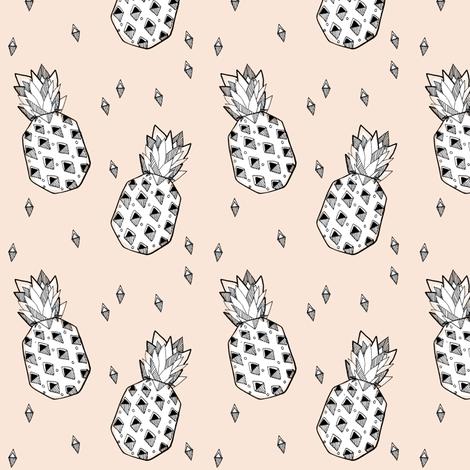pineapple nude - elvelyckan fabric by elvelyckan on Spoonflower - custom fabric