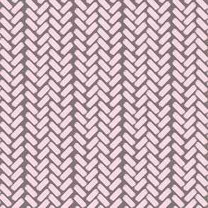 Painted herringbone-WmGrey/Pink