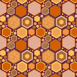 Hip Hexagons (Earthy Tones)