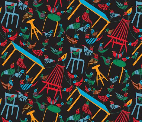 Mademoiselle blk fabric by mirjamauno on Spoonflower - custom fabric