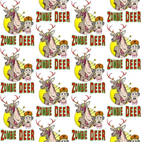 Zombie Deer fabric by skree on Spoonflower - custom fabric